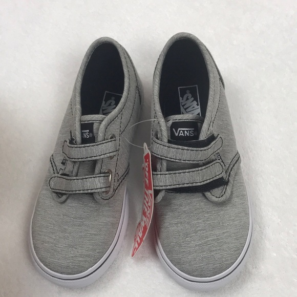 0da0a7032d0f Vans Atwood V gray white toddler boy girl shoes